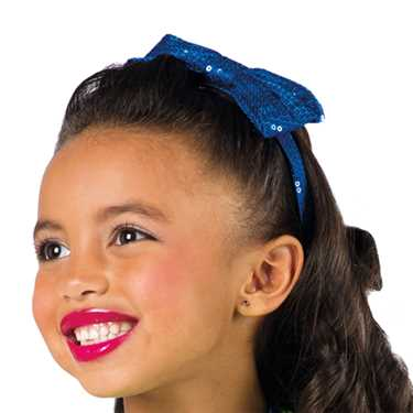 SEQUIN BOW HEADBAND / ROYAL