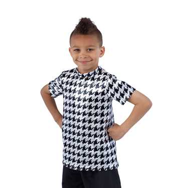 T SHIRT / SILVER HOUNDSTOOTH