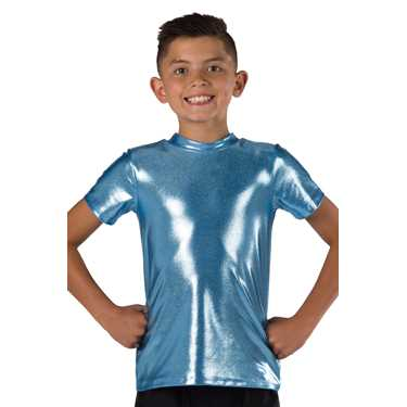 T SHIRT / LIGHT BLUE FOIL