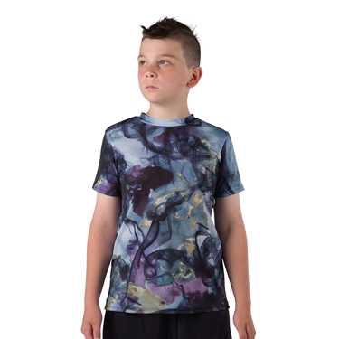 T SHIRT / NAVY-PURPLE TIE-DYE