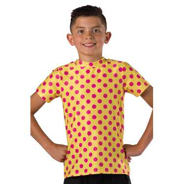 T SHIRT / YELLOW-PINK DOT
