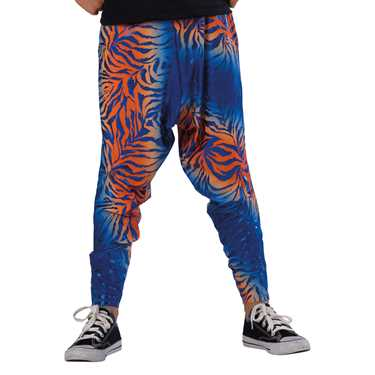 HAREM PANTS / ROYAL-ORANGE ANIMAL FOIL