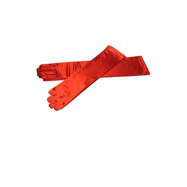 LONG RED SATIN GLOVE